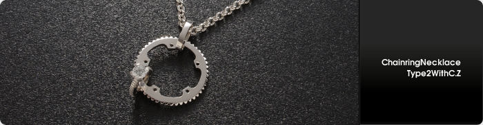 CHAINRING NECKLACE TYPE2 WITH C.Z