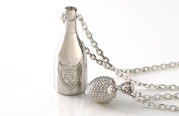 "Anniversary Series ""KANPAI"" Champagne & Strawberry Silver"
