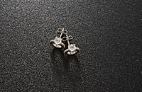 COG PIERCED EARRINGS WITH C.Z